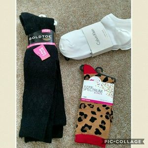 Gold Toe Accessories - New! 9 pairs of socks. Gold toe + calvin klein +