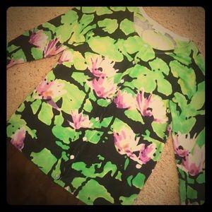 Tops - Floral 3/4 length cardigan