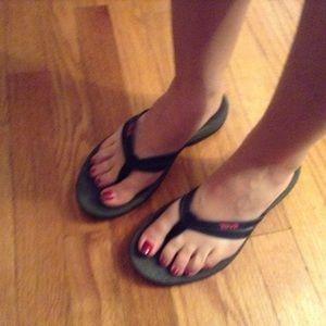 1addc8ca9b5 Teva Shoes - Teva Tirra Thong Flip Flops Black Women s size 8