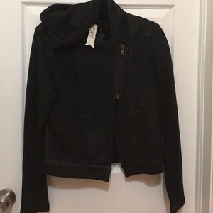 Bird by Juicy Couture Jackets & Blazers - Bird by Juicy couture moto jacket hoodie
