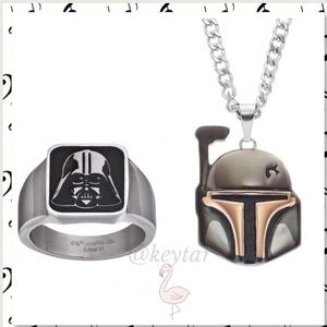 Star Wars Stainless Steel Ring &Necklace Set