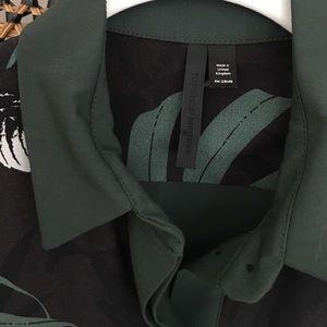 Topshop Tops - Topshop Boutique Jungle Print Silk Buttonup