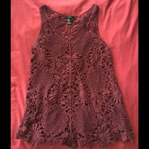 Forever 21 Tops - 🔥NEW🔥 Burgundy Crotched Top