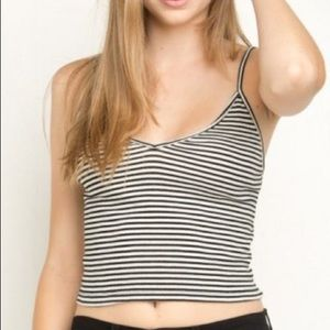 black and white crop tank top brandy melville