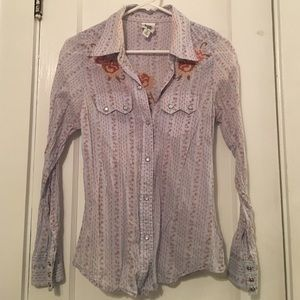 Anthropologie Tops - Ivy Jane  Anthro cotton western crossstitch shirt