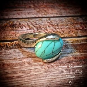 Vintage Jewelry - Handcrafted Silver Turquoise Healing Crystal Rings