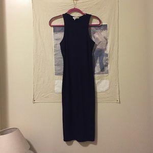 Blue bodycon midi F21 dress
