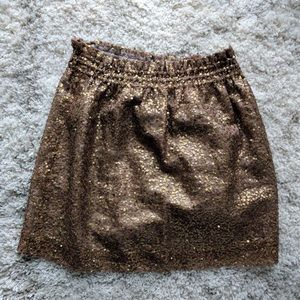 J. Crew Dresses & Skirts - J. Crew antique gold sequin skirt