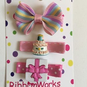Other - Birthday set of hair clips ** bundle only**