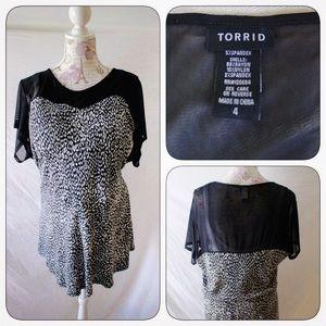 torrid Tops - 📌HostPick📌Torrid Black Peplum Top, Plus Size 4