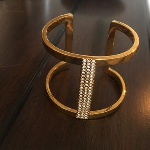 Vince Camuto Jewelry - Vince Camuto gold plated crystal cut out bracelet