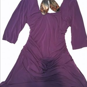 Kiyonna Dresses & Skirts - Dark purple Plus size dress