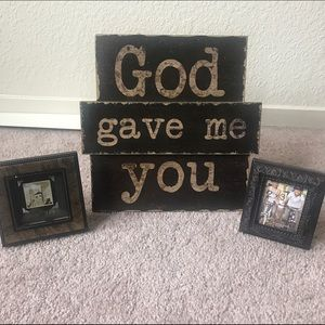 Accessories God Gave Me You Wall Decor And Frames Poshmark
