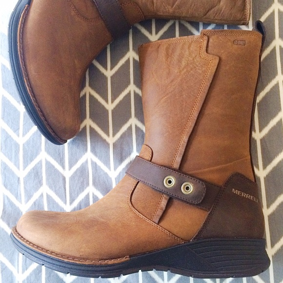 great deals sale discounts Merrell Waterpoof Leather Mid Boots - Travvy Mid sale best wholesale low shipping fee cheap online a6arrtb6