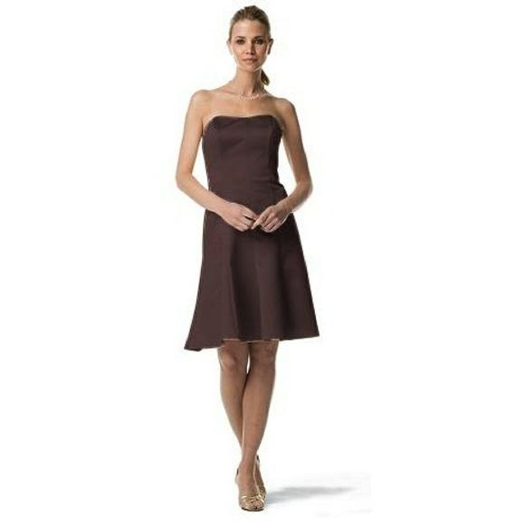 eb18db4c92 Truffle Brown Satin Formal or Bridesmaid s Dress. NWT. David s Bridal