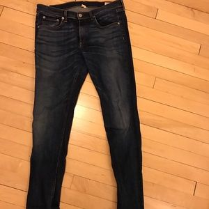 rag and bone medium wash skinny jeans