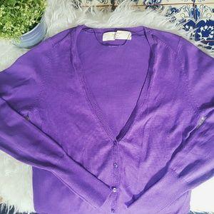 Zara Sweaters - ZARA knit purple cardigan