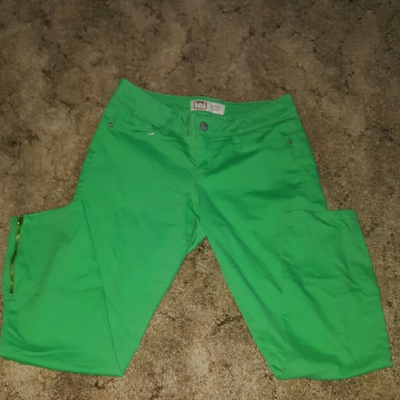 lei Denim - Skinny jeans green size 11