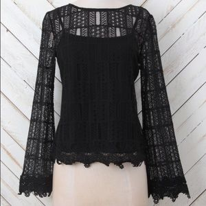 Altar'd State Flared *Floral Lace* Tunic Top