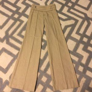 "Anthropologie ""elevenses"" Linen Trousers"