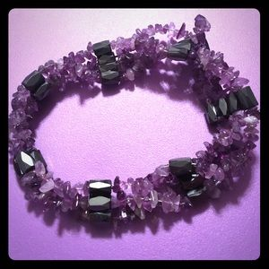 Jewelry - Purple Magnetic Rock Candy Necklace