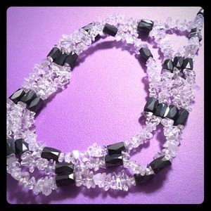Jewelry - White Magnetic Rock Candy Necklace
