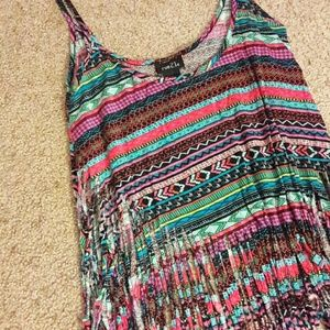 Rue 21 Tops - Fringed Crop Top TangTop