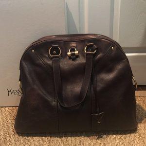 a51cd0bd7f Yves Saint Laurent Bags - Saint Laurent YSL Large Muse Handbag Brown Dome
