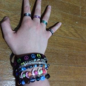 Jewelry - Assorted bracelets and rings