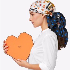 Hermes Accessories - NIB HERMES Brides De Gala Love Scarf Heart Box