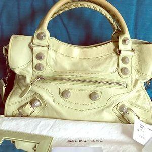 Balenciaga Handbags - Balenciaga Giant City Silver Hardware Granny Green