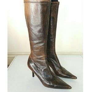 Steve Madden Brown Faux Leather Calf Boots 9M