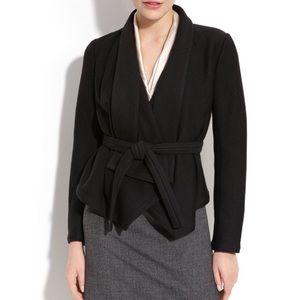 Theory Jackets & Blazers - Theory shawl collar belted black wool blend jacket
