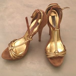 Marco Santi Shoes - Marco Santoro gold/tan heels