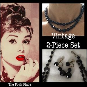 Jewelry - 🇩🇪Vintage Necklace & Earrings Made in Germany
