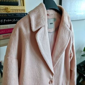 ASOS Jackets & Blazers - Pink fluffy cocoon coat