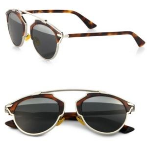 DIOR SO REAL METAL ROUND SUNGLASSES 48MM