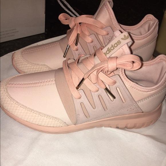 blush pink adidas tubular