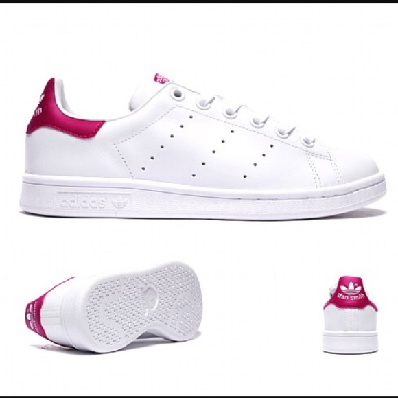 3fe9d5c122 Adidas Stan smith pink kids sz 5.5 women's 6.5-7.5