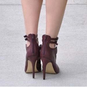 shoedazzle Shoes - Burgundy booties