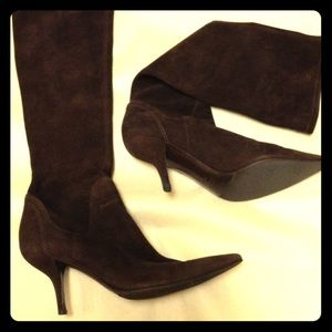 Sergio Rossi Shoes - Sergio Rossi Dark brown suede pointed boots