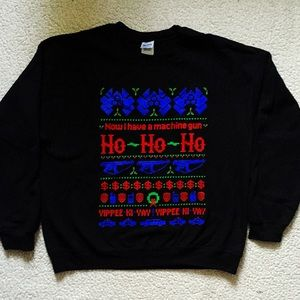 teefury sweaters die hard ugly christmas sweater