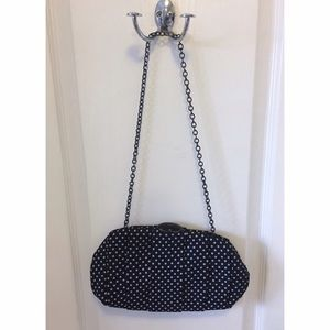 Nine West polka dot clutch bag purse