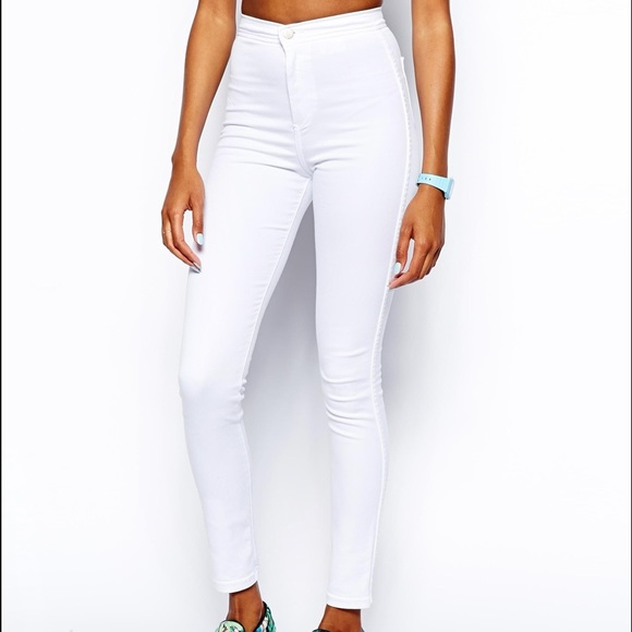 68% off American Apparel Denim - American Apparel White easy jeans ...