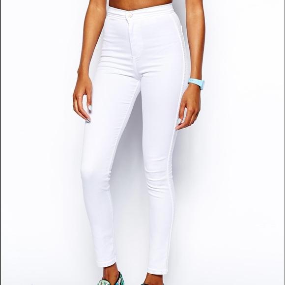 68% off American Apparel Denim - American Apparel White easy jeans ...
