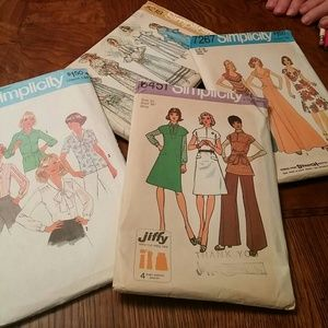 Simplicity Other - SALE🎉4 Vintage Sewing Patterns 1970's