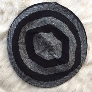 New York & Company Accessories - Striped Knit Beret