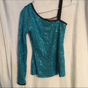 One-Shoulder Sequin Top