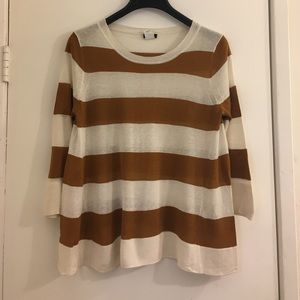 J.Crew Stripe Swing Sweater Size S
