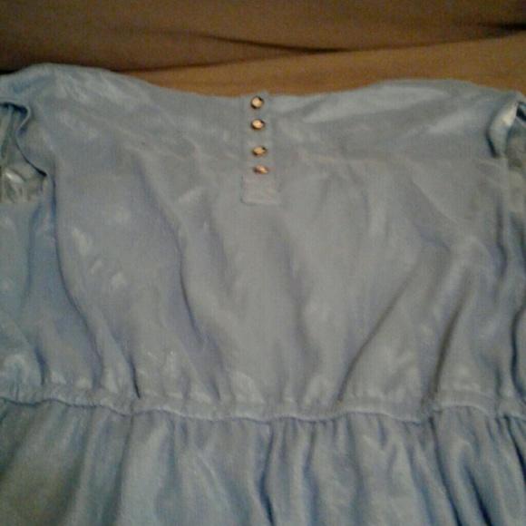 Forever 21 Dresses - Light pale baby blue polyester short dress
